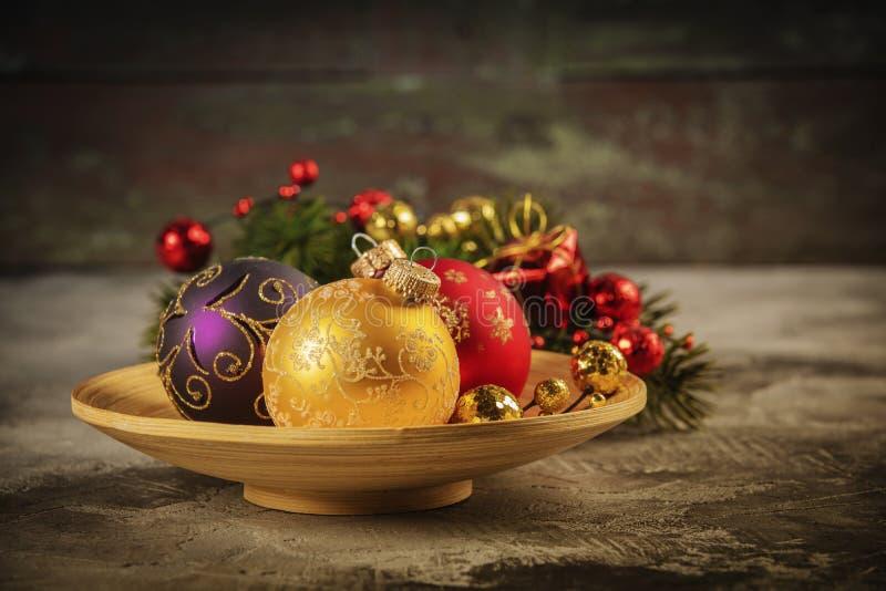 Composition en station thermale avec la décoration de Noël photo libre de droits