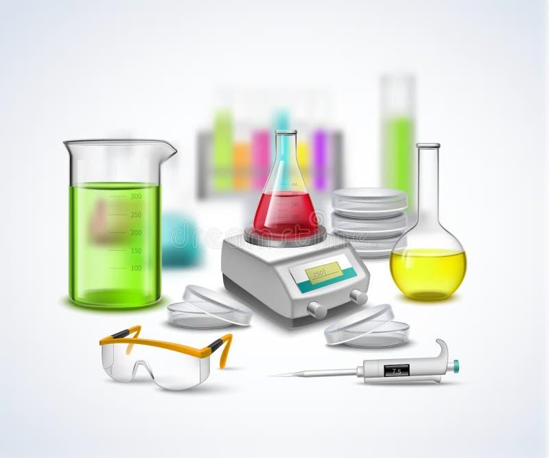 Composition en substance de laboratoire illustration stock