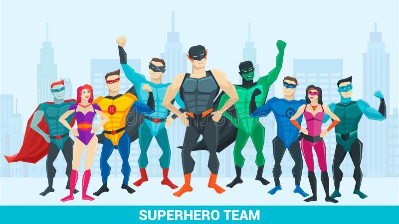 Composition en superhéros illustration libre de droits