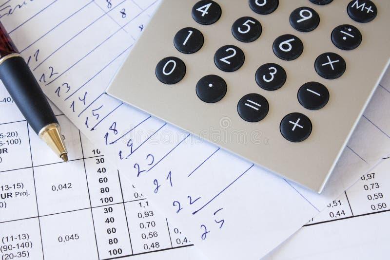 Composition financière images stock