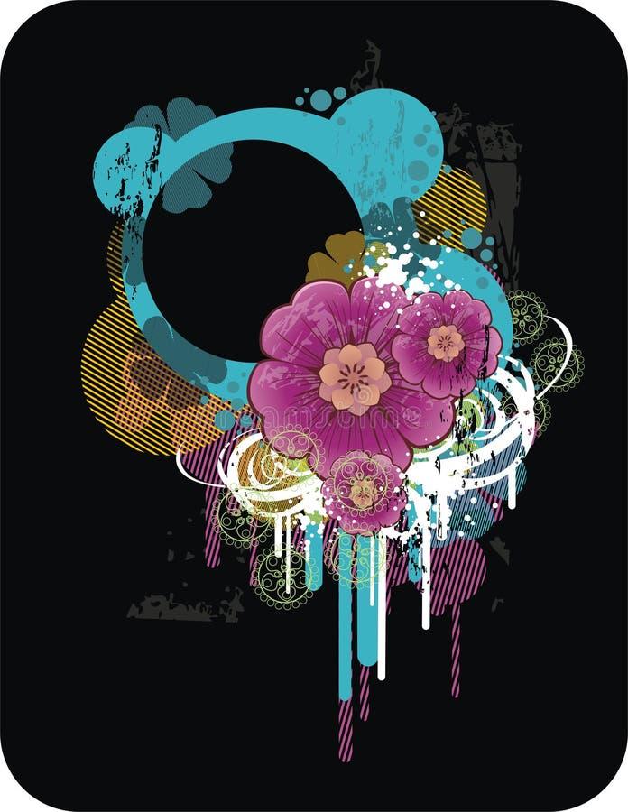 Composition florale abstraite illustration libre de droits