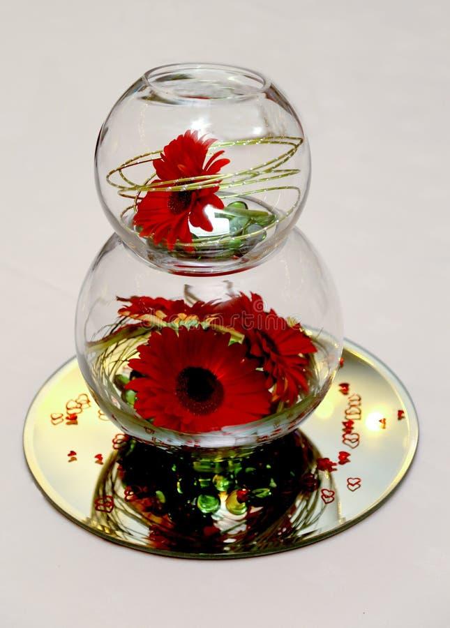 Composition florale en mariage image stock