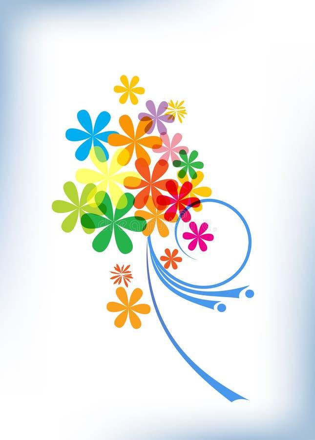 Composition florale lumineuse illustration stock