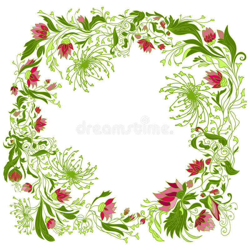 Composition florale ronde illustration stock