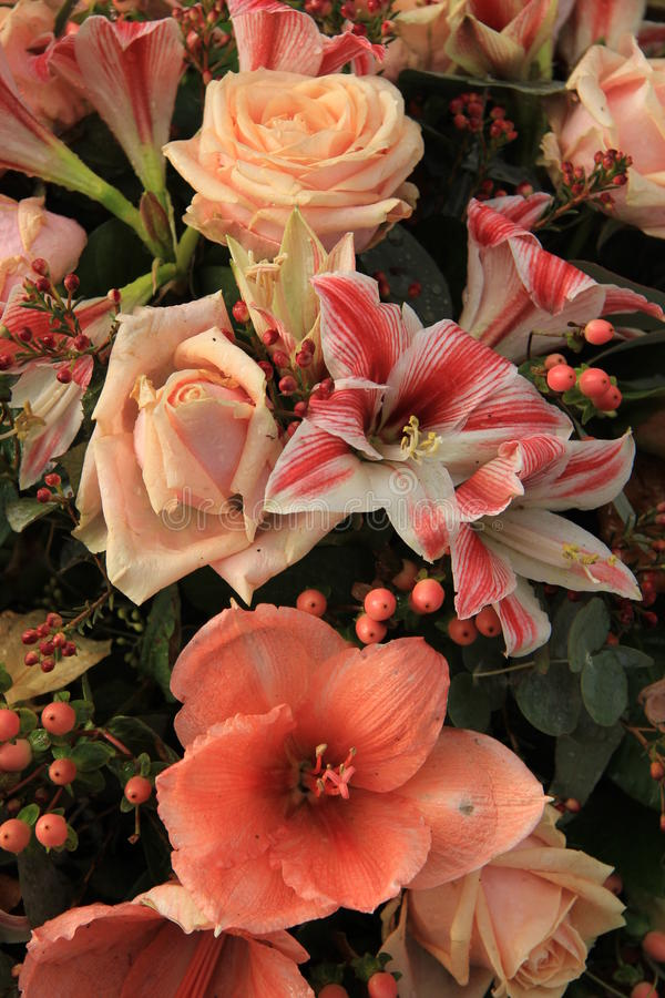 Composition florale rose photographie stock