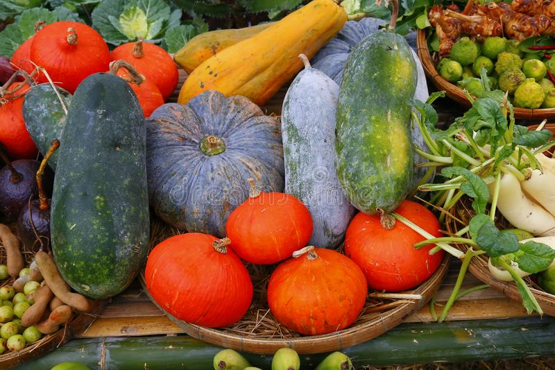 Fresh fruits and vegetables. royalty free stock photos