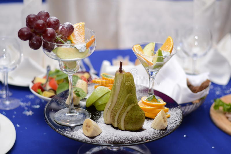 The composition of fruits stock image