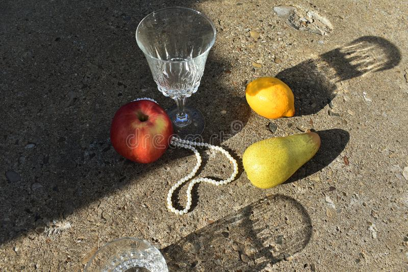 Composition with fruits royalty free stock image