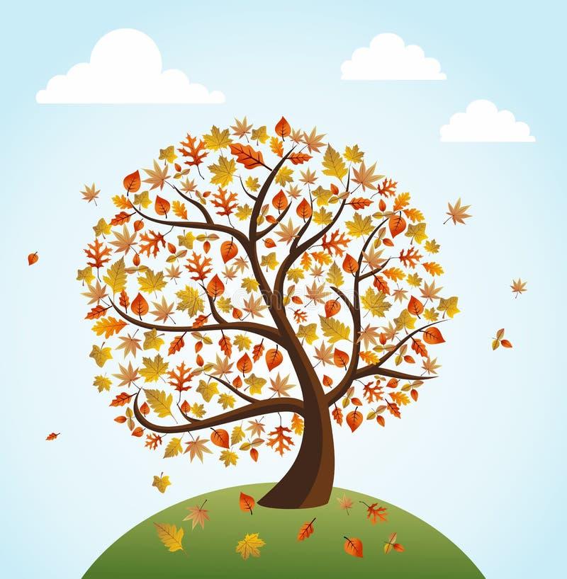 Composition globale en bannière de vintage d'automne concentrée illustration de vecteur