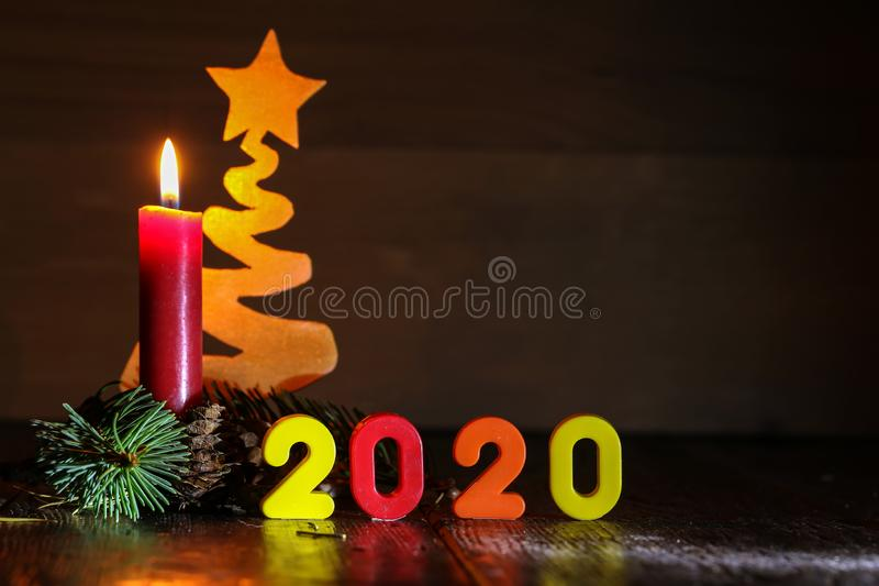 Composition Happy New Year 2020 - Symbol of number 2020 stock photos