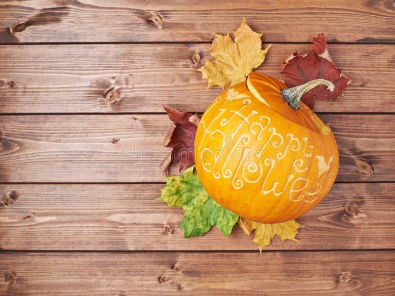 Composition heureuse en potiron de Halloween images libres de droits