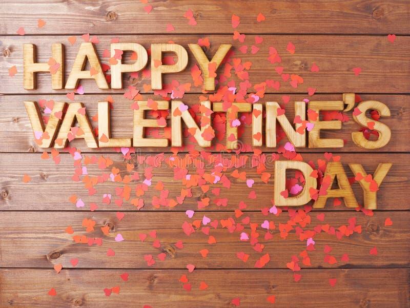 Composition heureuse en Saint-Valentin photographie stock libre de droits