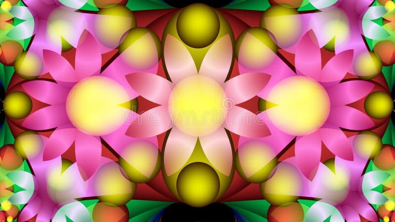 Composition lumineuse des fleurs stylisées Peinture décorative photographie stock libre de droits