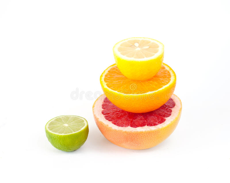 Composition Made From Citrus Fruits Stock Photo