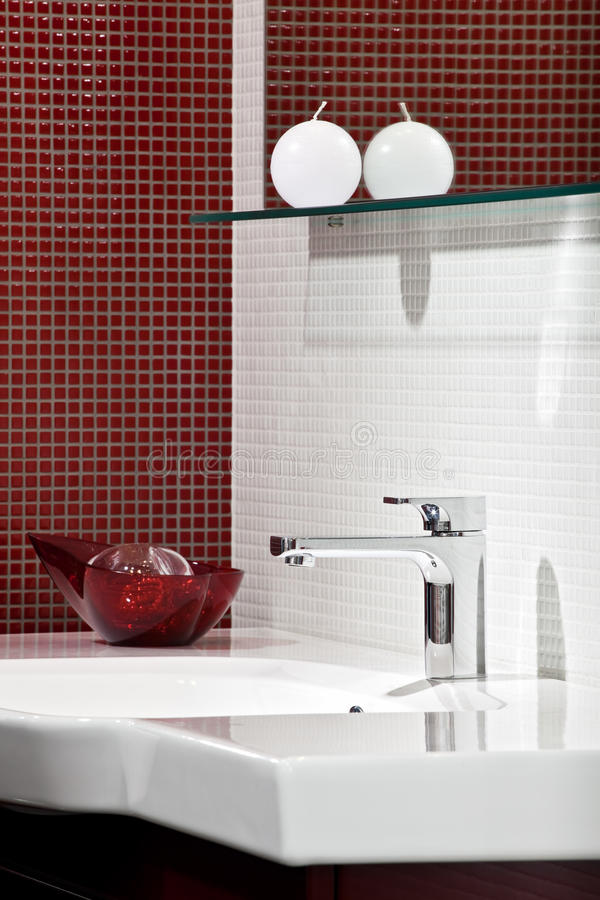 Composition in modern bathroom interior stock photography