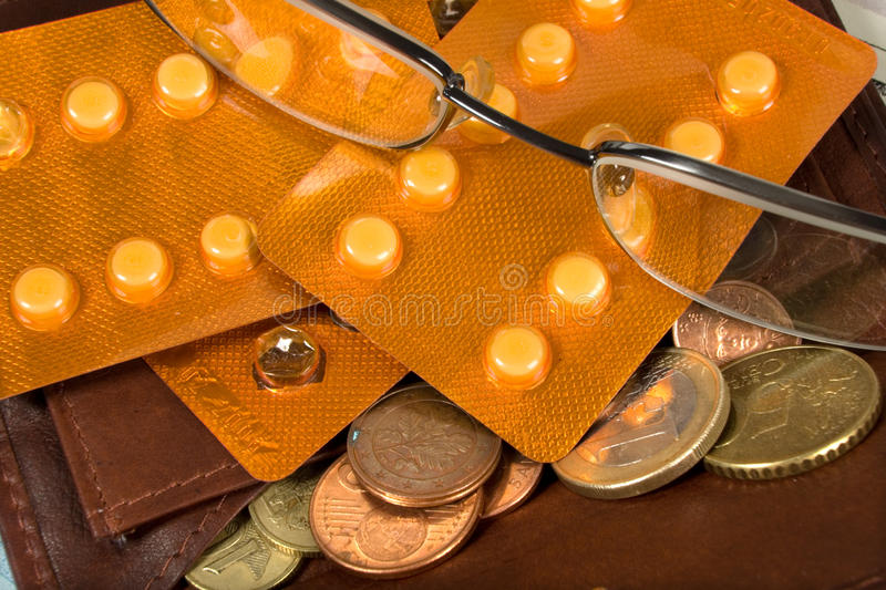 Composition with money. And miscellaneouses accessories royalty free stock photos