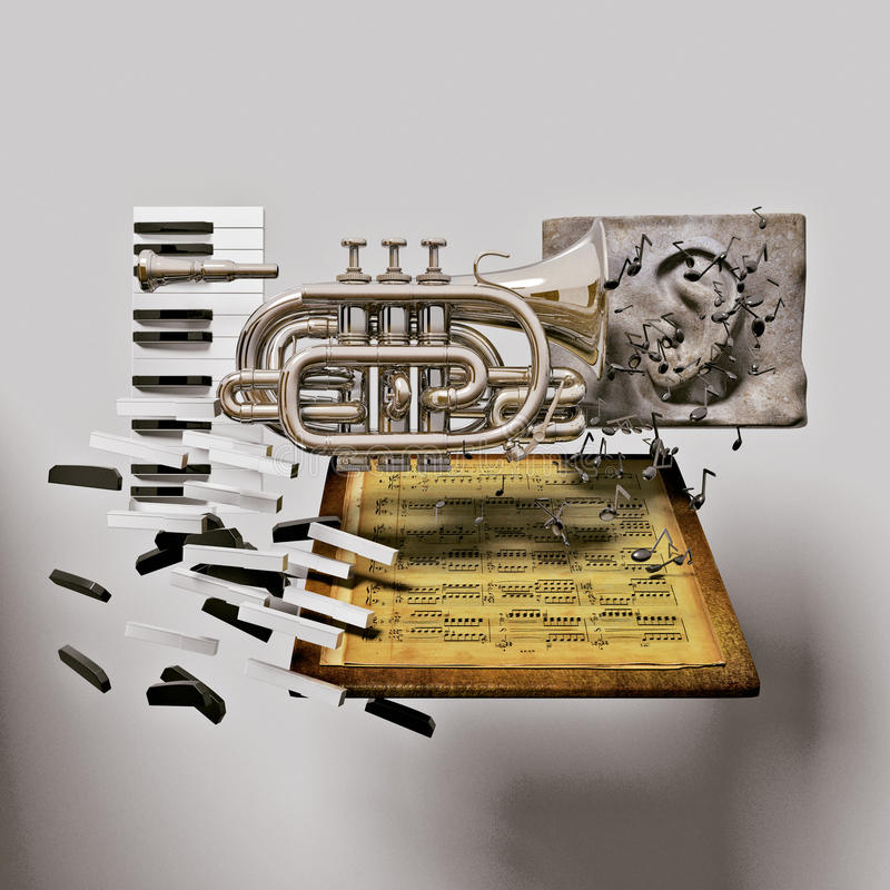 Composition musicale photo stock