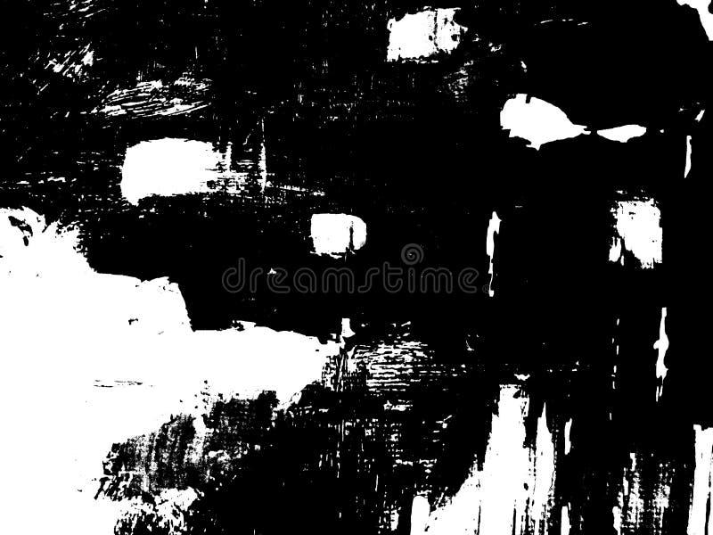 Composition noire et blanche abstraite image stock