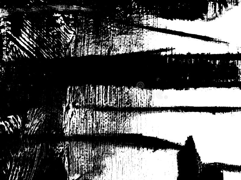 Composition noire et blanche abstraite images libres de droits