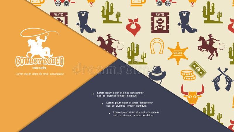 Composition occidentale sauvage plate illustration libre de droits