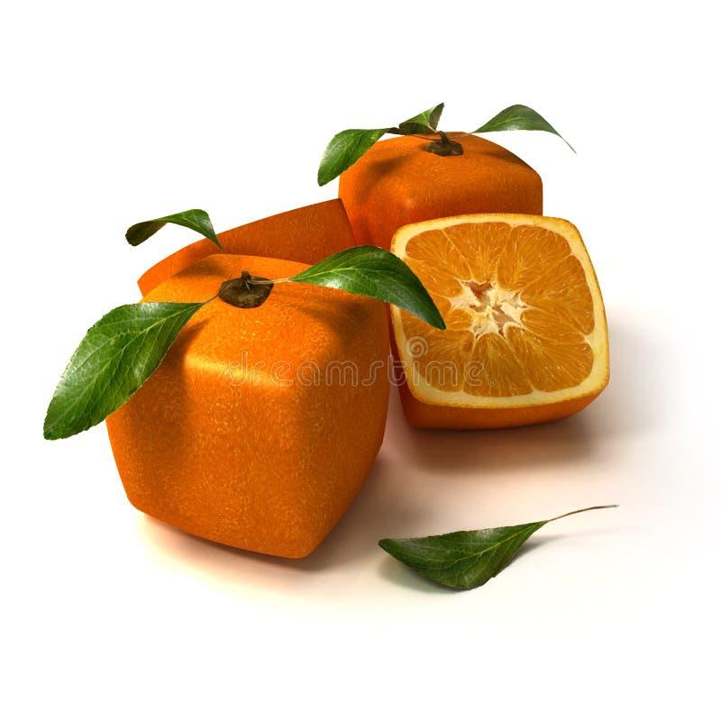 Composition orange cubique fraîche illustration libre de droits