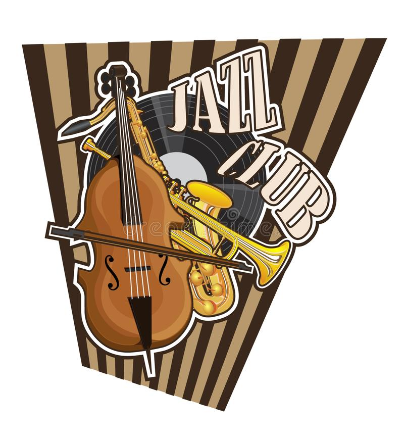Icon from the painted musical instruments royalty free illustration
