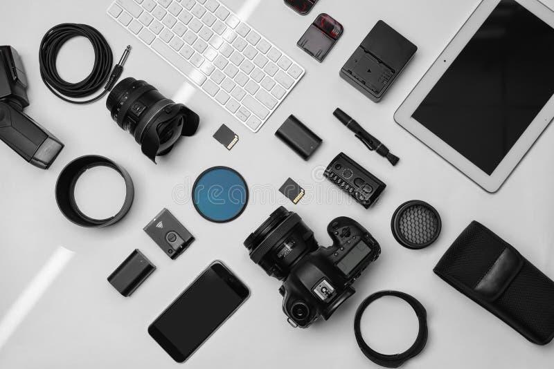 Composition plate en configuration avec l'équipement image libre de droits