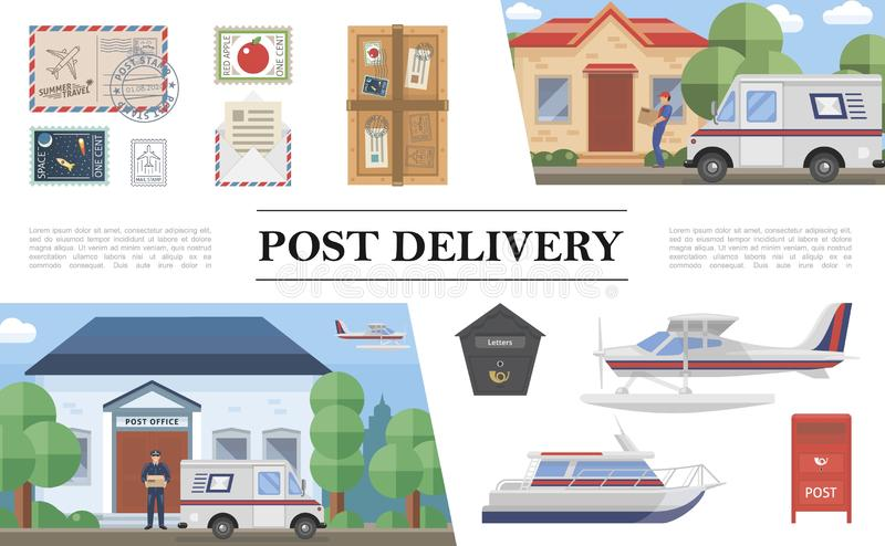 Composition plate en service de courrier illustration libre de droits