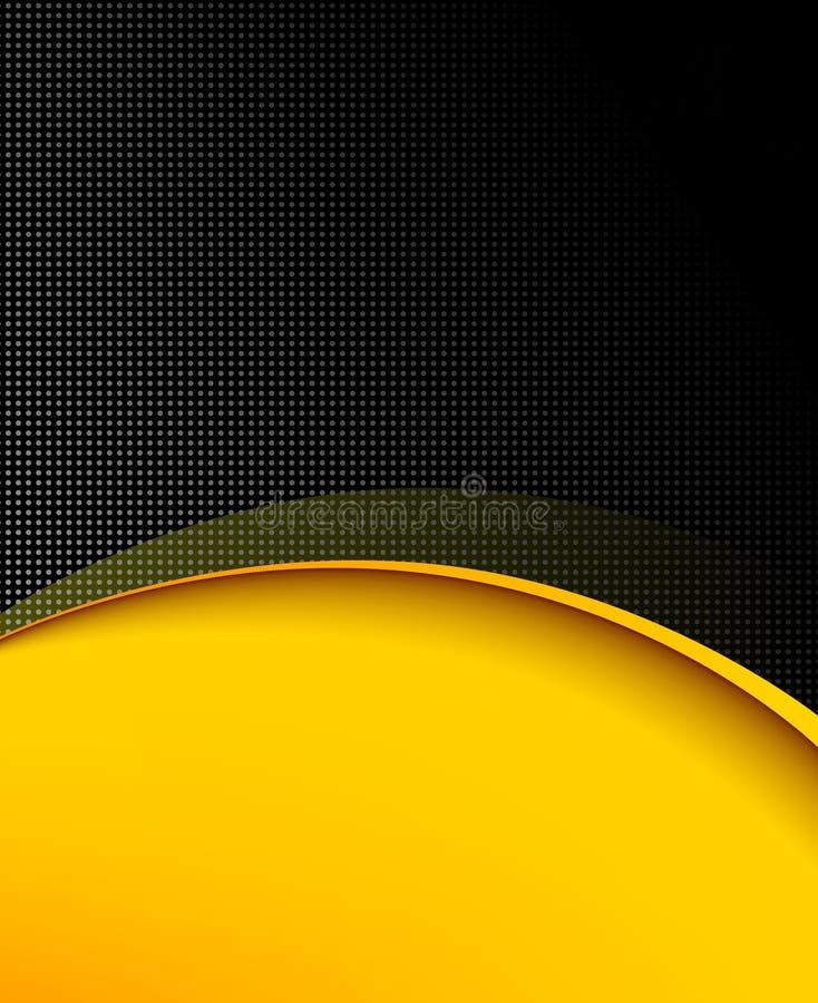Composition pointillée et jaune en noir en fond pour le design d'entreprise illustration stock