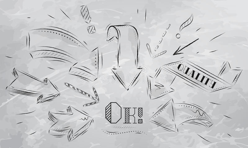 Download Composition Pointing The Ok Drawing Coal Stock Vector - Image: 33145661