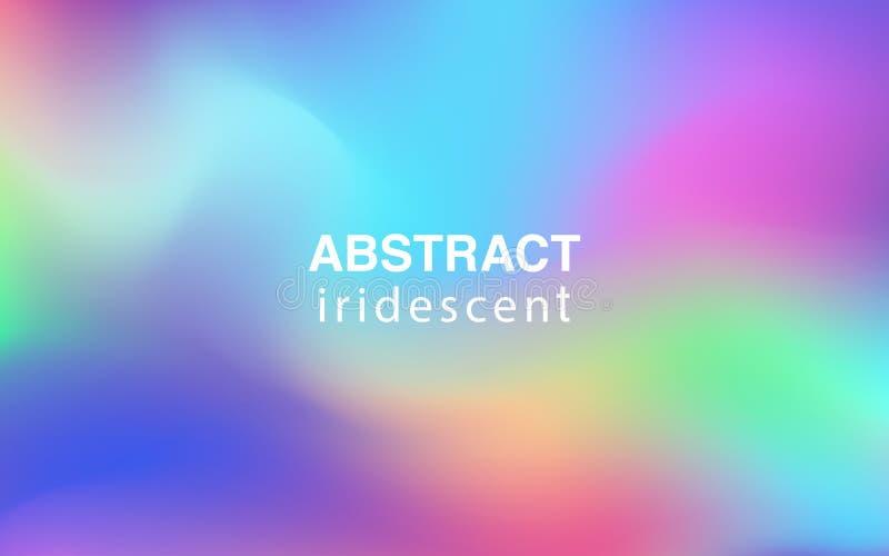 Composition rectangulaire en fond iridescent coloré abstrait illustration libre de droits