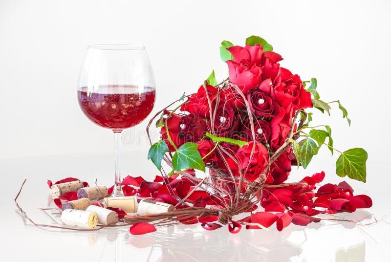 Composition romantique en jour du ` s de Valentine images stock
