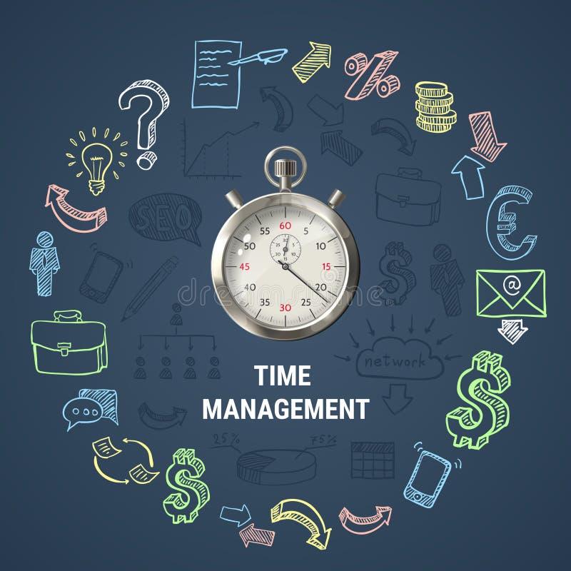 Composition ronde en gestion du temps illustration libre de droits