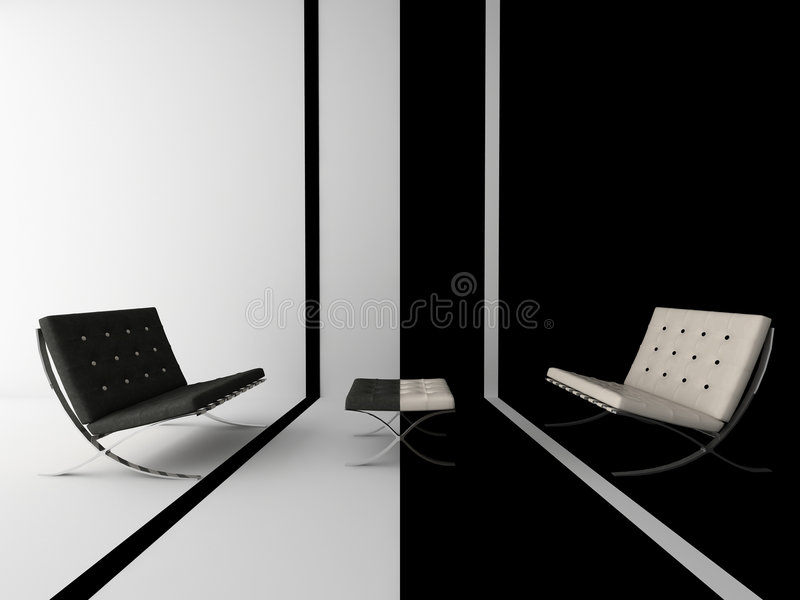 Download Composition With Sofas In An I Stock Photo - Image: 2252570