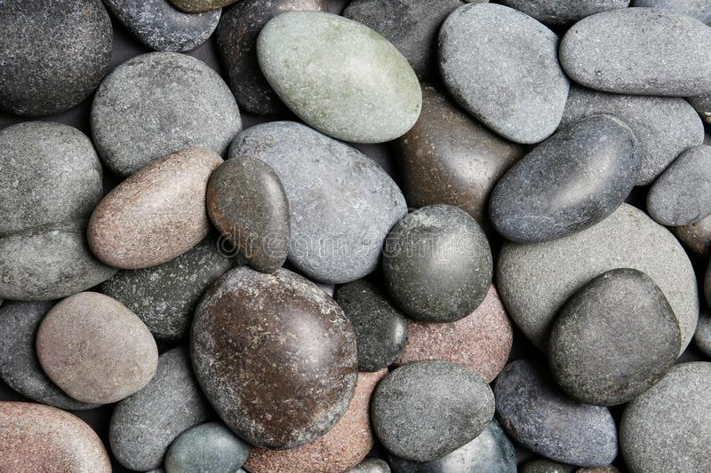 Composition with spa stones as background stock photos
