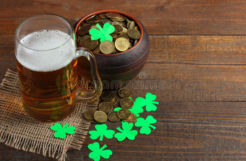 The composition of St. Patrick stock photos
