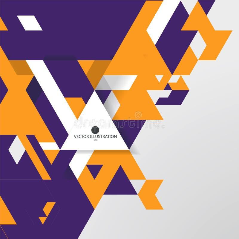 Composition triangulaire des graphiques abstraits, illustration de vecteur illustration de vecteur