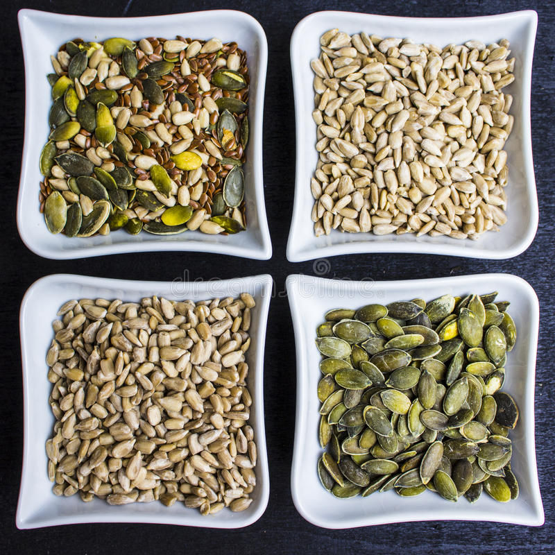 Composition of varied seeds royalty free stock photography