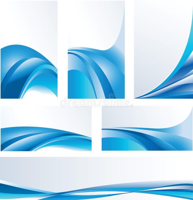 Compositions abstraites bleues photos libres de droits