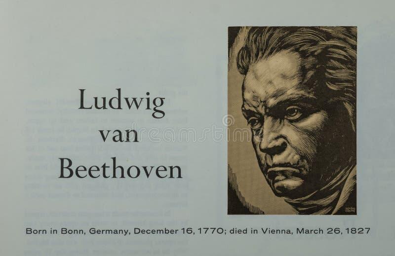 Compositor de Ludwig van Beethoven fotos de archivo libres de regalías