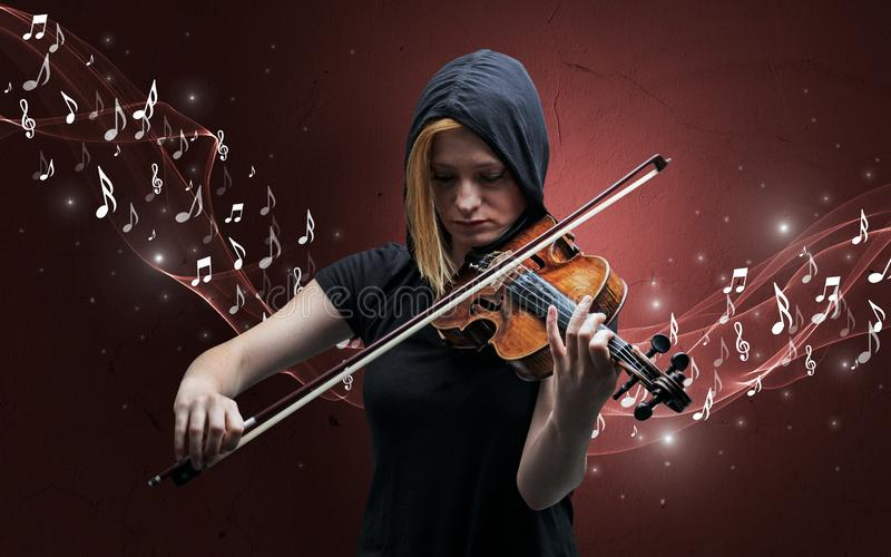 Compositor s? que joga no violino fotografia de stock royalty free