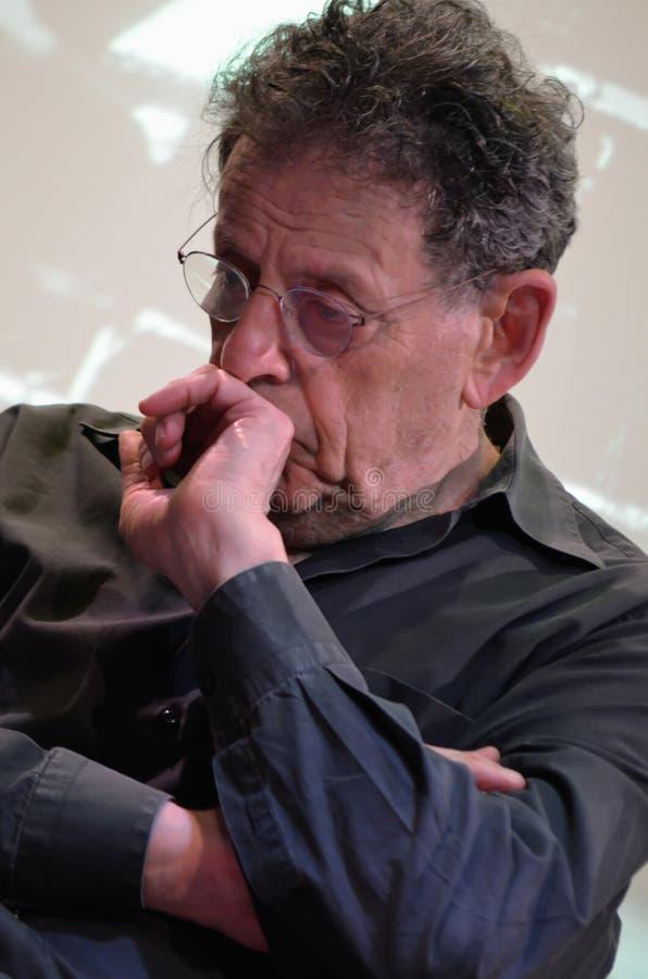 Compositore americano Philip Glass immagini stock