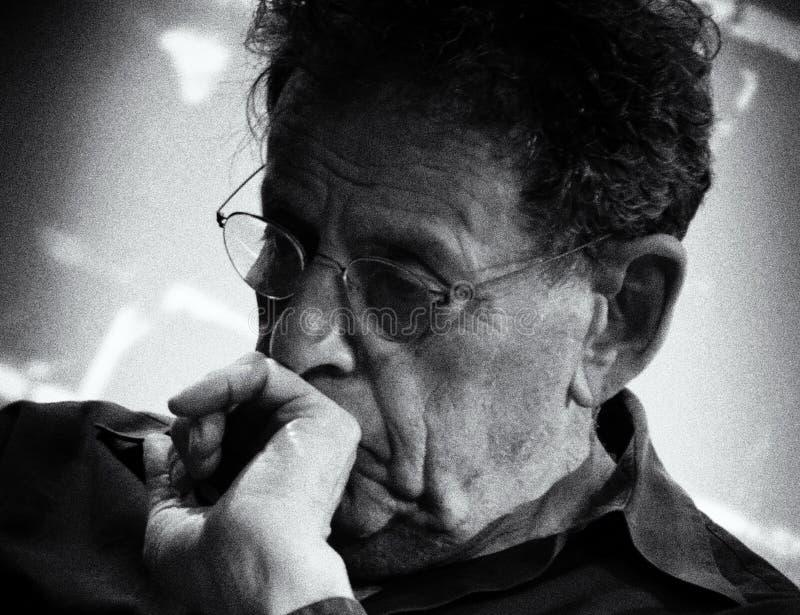 Compositore americano Philip Glass fotografie stock