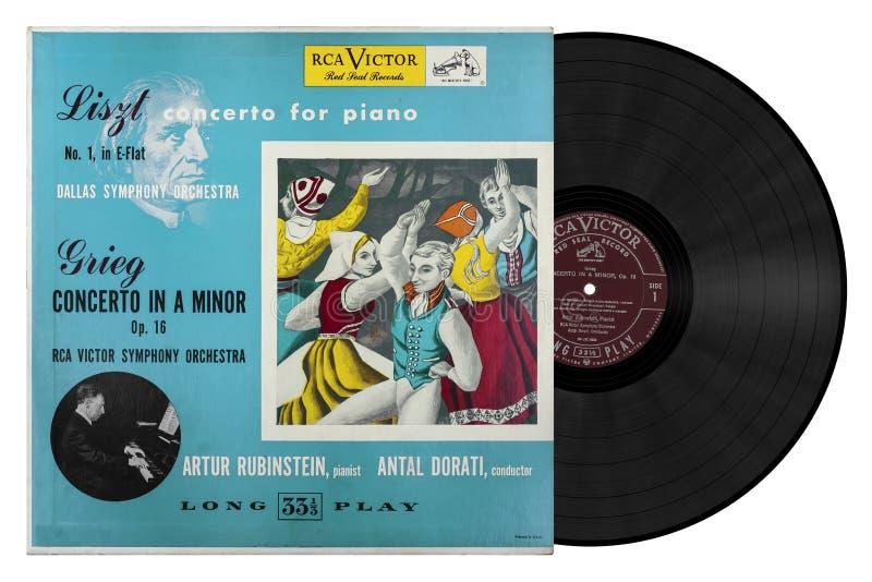 Compositore Liszt Concerto per il piano fotografia stock