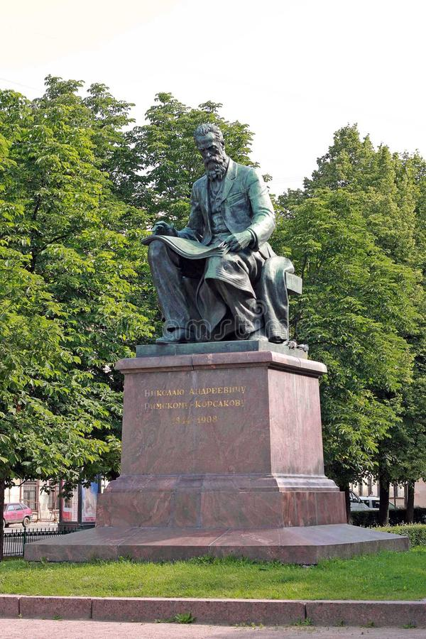 Compositore russo Nikolai Rimsky-Korsakov immagini stock
