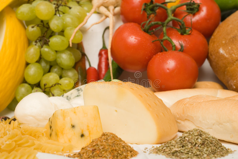 Composizione 2 nelle derrate alimentari fotografia stock