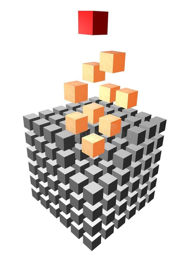 composizione 3d dei cubi illustrazione di stock