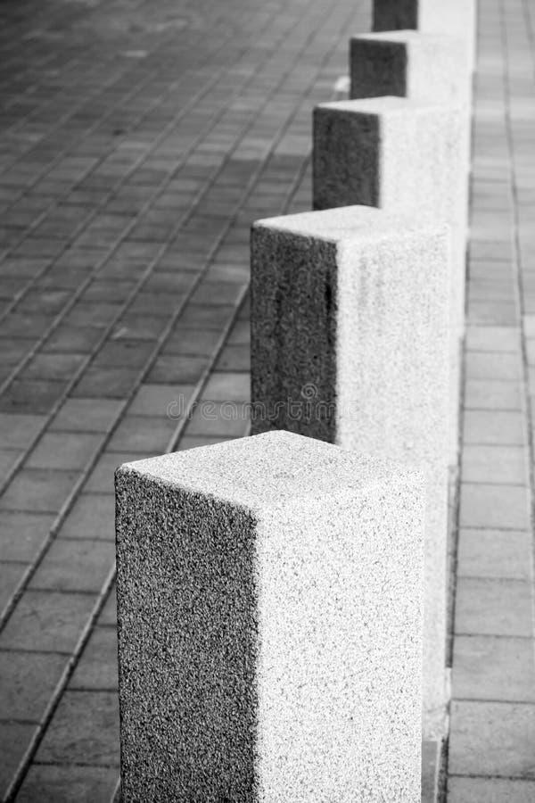 Composizione astratta in architettura, bitte del quadrato bianco fotografia stock libera da diritti