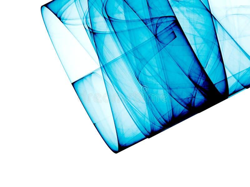 Composizione astratta blu illustrazione vettoriale