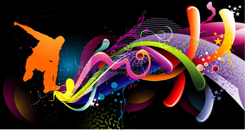 Composizione astratta in colore illustrazione di stock